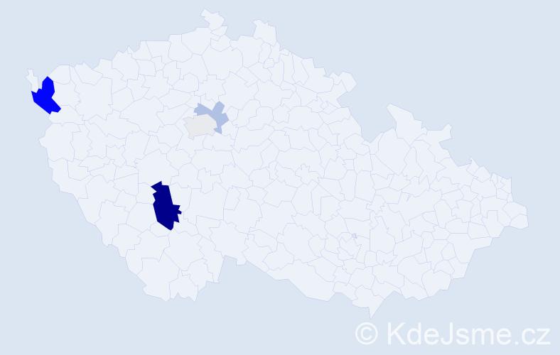 Příjmení: 'Cupan', počet výskytů 11 v celé ČR