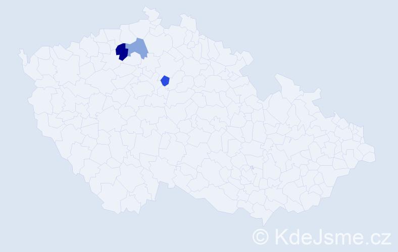 Příjmení: 'Latyš', počet výskytů 4 v celé ČR