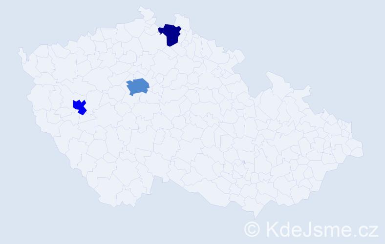 Příjmení: 'Carrollová', počet výskytů 5 v celé ČR