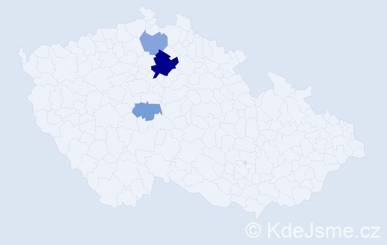Příjmení: 'Andlt', počet výskytů 7 v celé ČR