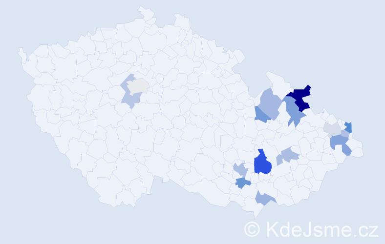 Příjmení: 'Georgiadisová', počet výskytů 25 v celé ČR