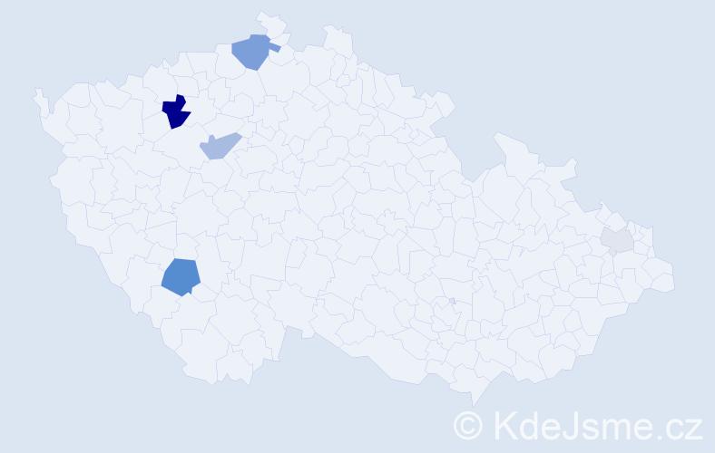 Příjmení: 'Hamran', počet výskytů 13 v celé ČR