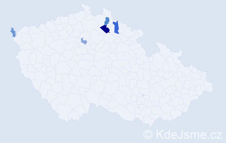 Příjmení: 'Berndtová', počet výskytů 13 v celé ČR