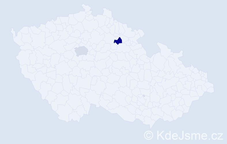 Příjmení: 'Kudinov', počet výskytů 3 v celé ČR