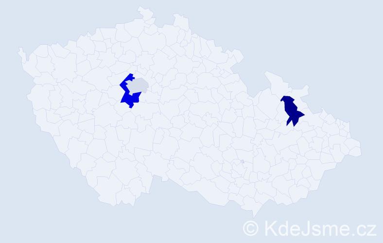 Příjmení: 'Halanová', počet výskytů 4 v celé ČR