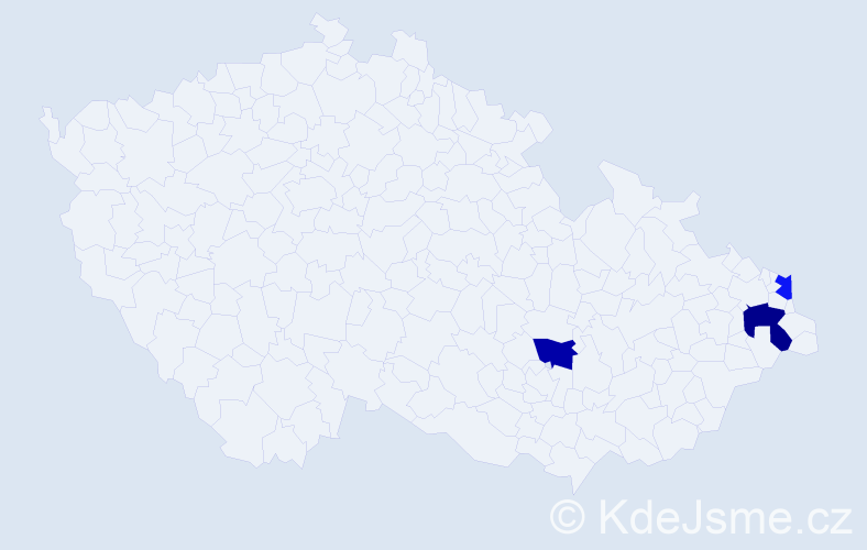 Příjmení: 'Helvín', počet výskytů 11 v celé ČR