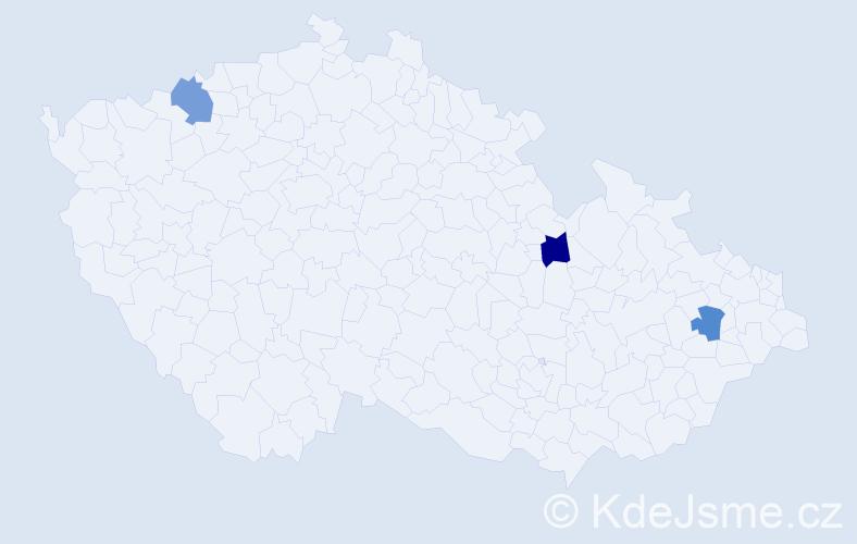 Příjmení: 'Barlow', počet výskytů 3 v celé ČR