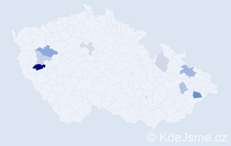 Příjmení: 'Gardaš', počet výskytů 16 v celé ČR