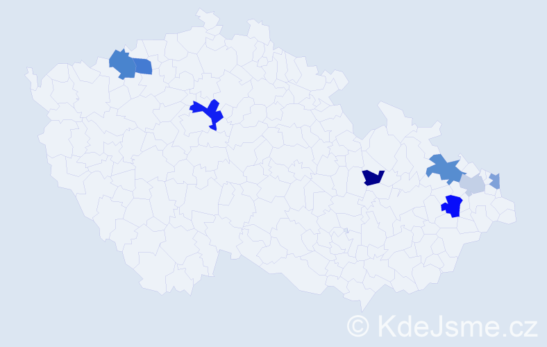 Příjmení: 'Benčičová', počet výskytů 14 v celé ČR