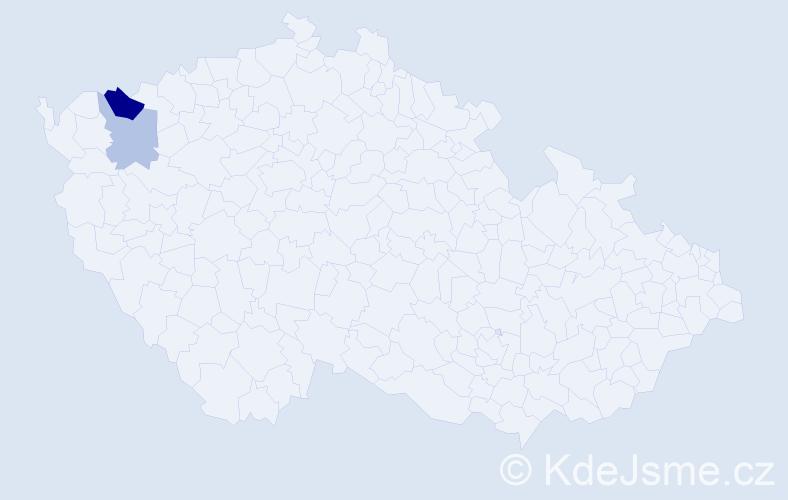 Příjmení: 'Gewitscher', počet výskytů 4 v celé ČR