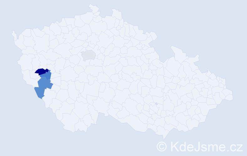 Příjmení: 'Hajdúková', počet výskytů 7 v celé ČR