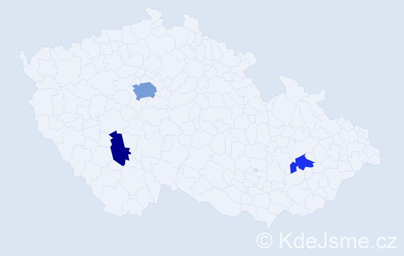 Příjmení: 'Gdovínová', počet výskytů 6 v celé ČR