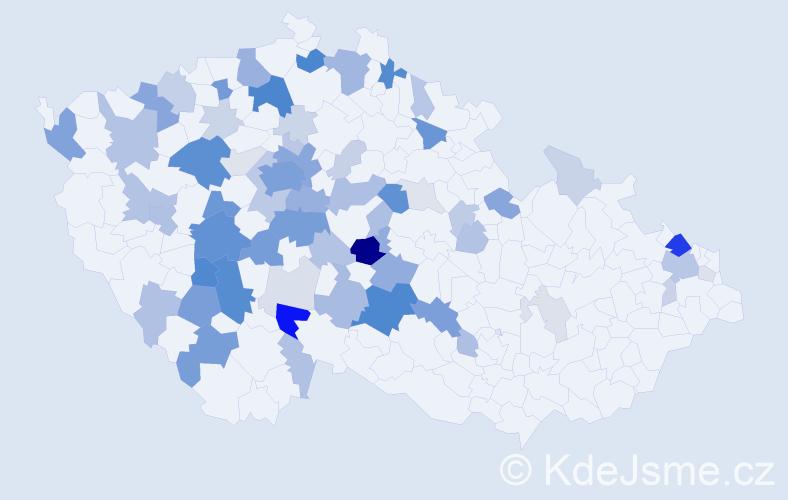 Příjmení: 'Laňková', počet výskytů 231 v celé ČR