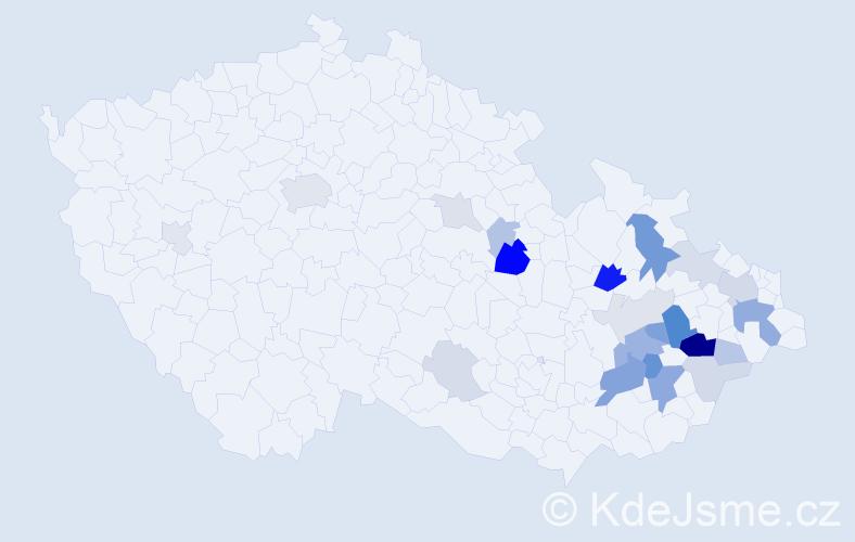 Příjmení: 'Čepicová', počet výskytů 60 v celé ČR