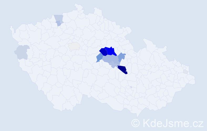 Příjmení: 'Lejhancová', počet výskytů 62 v celé ČR