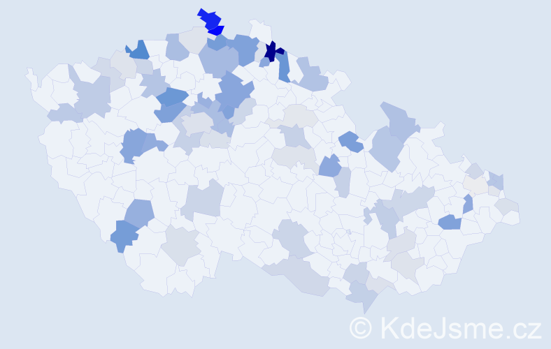 Příjmení: 'Galbavá', počet výskytů 179 v celé ČR