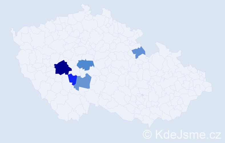 Příjmení: 'Demský', počet výskytů 11 v celé ČR