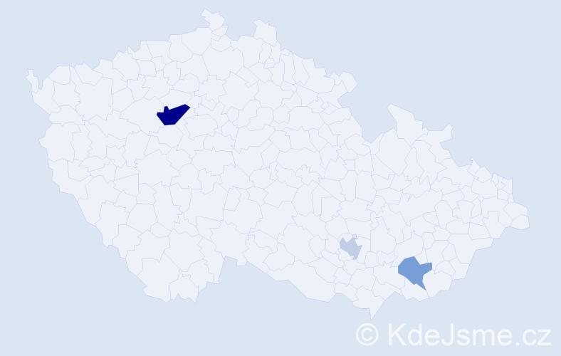 Příjmení: 'Elsayed', počet výskytů 10 v celé ČR