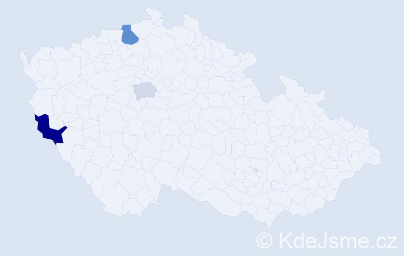 Příjmení: 'Ďurčiová', počet výskytů 3 v celé ČR
