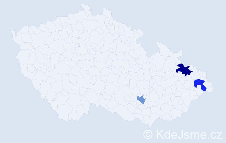 Příjmení: 'Horak', počet výskytů 11 v celé ČR