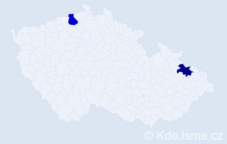 Příjmení: 'Apetický', počet výskytů 8 v celé ČR