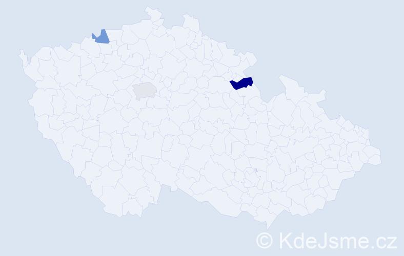 Příjmení: 'Isajev', počet výskytů 8 v celé ČR