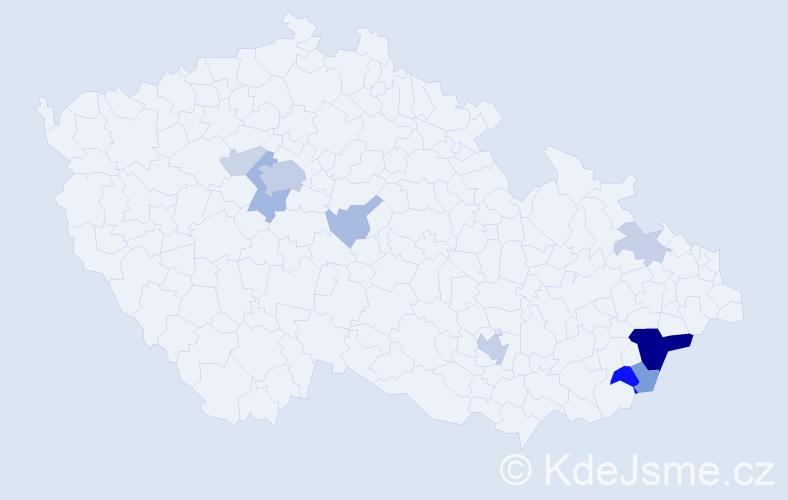 Příjmení: 'Ekartová', počet výskytů 29 v celé ČR