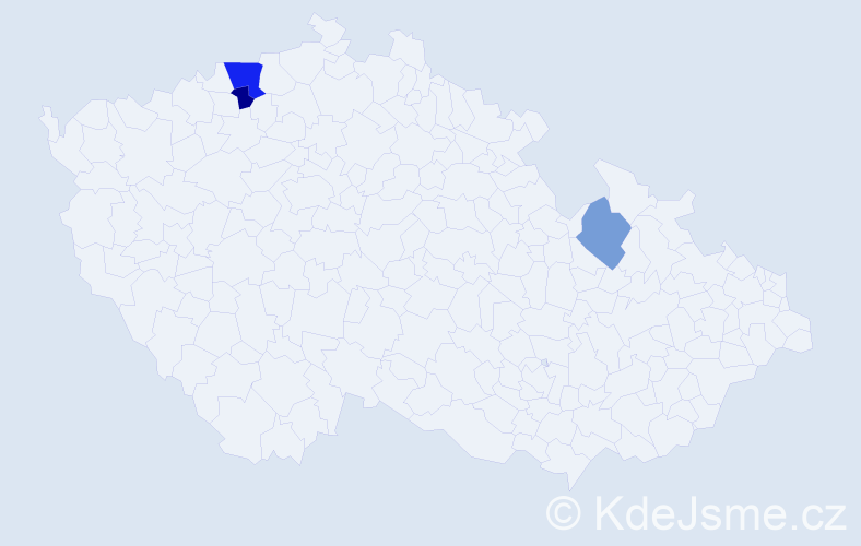 Příjmení: 'Jirschová', počet výskytů 5 v celé ČR