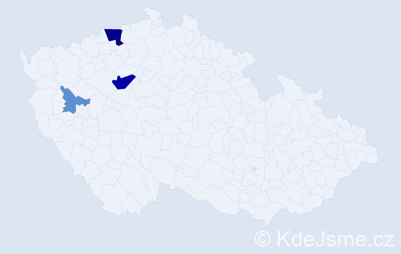 Příjmení: 'Bachmaier', počet výskytů 9 v celé ČR