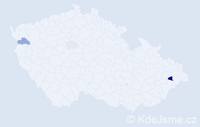 Příjmení: 'Kýpeť', počet výskytů 8 v celé ČR