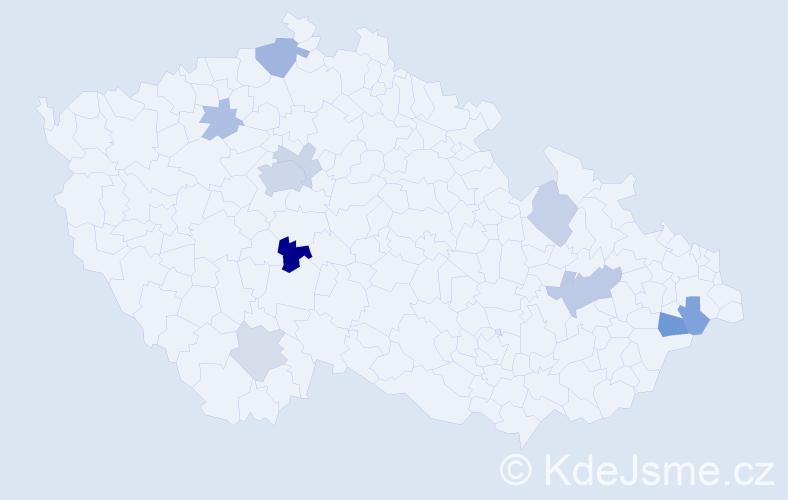 Příjmení: 'Day', počet výskytů 21 v celé ČR