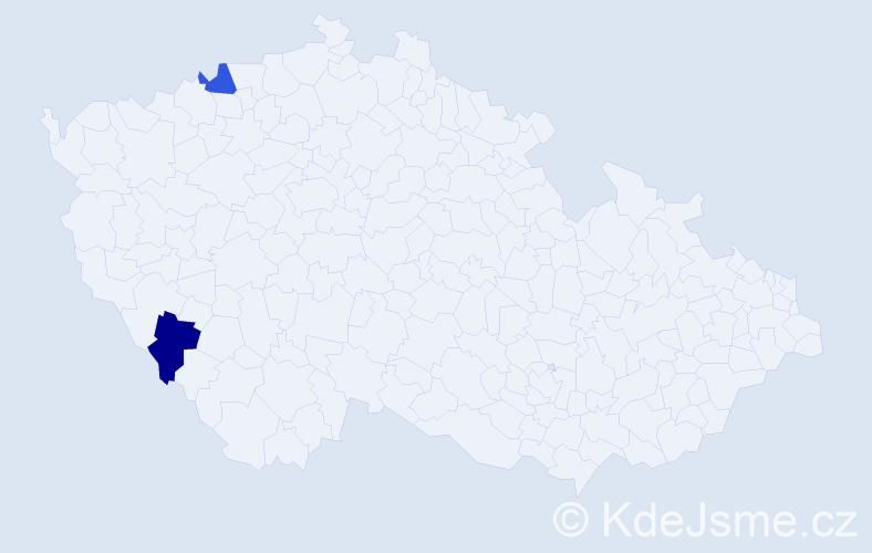 Příjmení: 'Leipeltová', počet výskytů 6 v celé ČR
