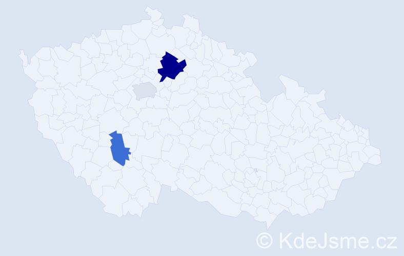 Příjmení: 'Ivanenková', počet výskytů 5 v celé ČR
