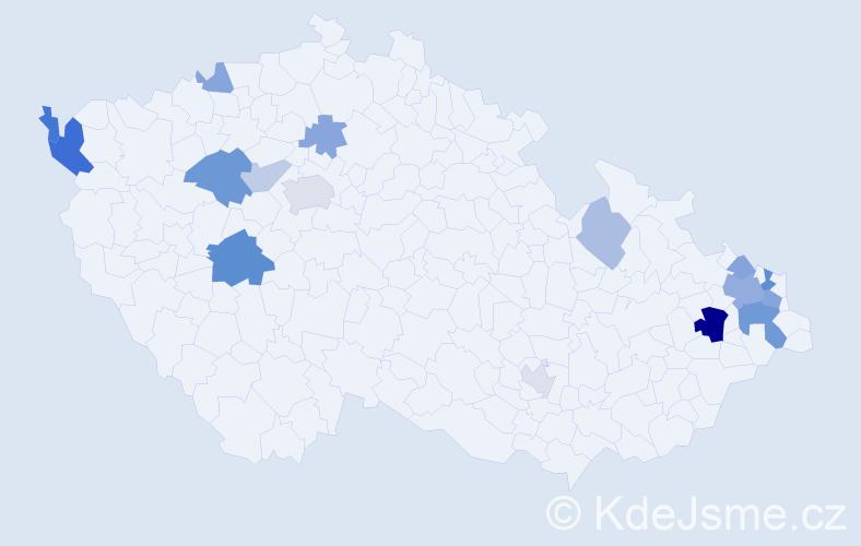 Příjmení: 'Brilla', počet výskytů 34 v celé ČR