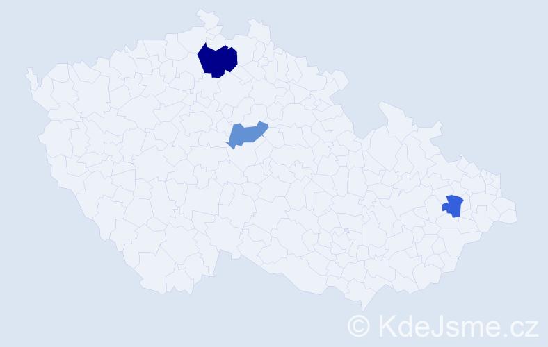 Příjmení: 'Kálaiová', počet výskytů 9 v celé ČR