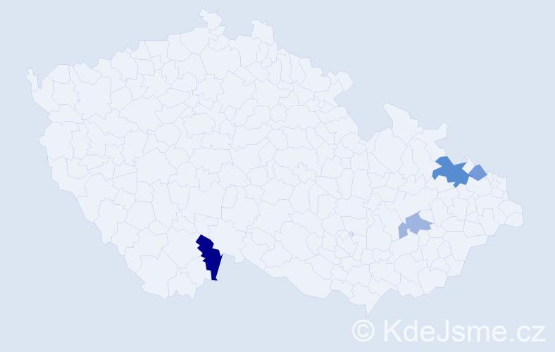 Příjmení: 'Banašíková', počet výskytů 7 v celé ČR