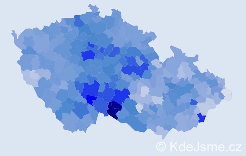 Příjmení: 'Nováková', počet výskytů 35431 v celé ČR