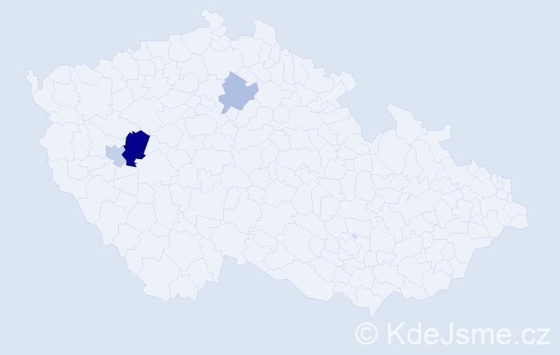 Příjmení: 'Keltyčka', počet výskytů 6 v celé ČR