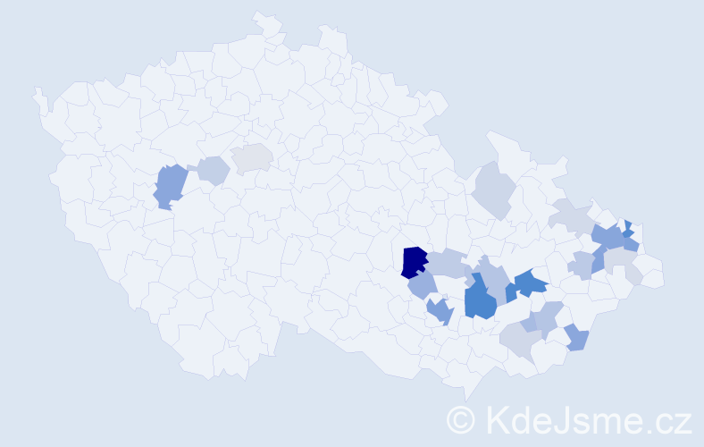 Příjmení: 'Čelechovská', počet výskytů 67 v celé ČR