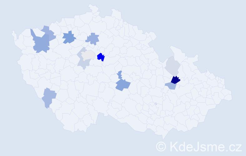 Příjmení: 'Cinegr', počet výskytů 32 v celé ČR