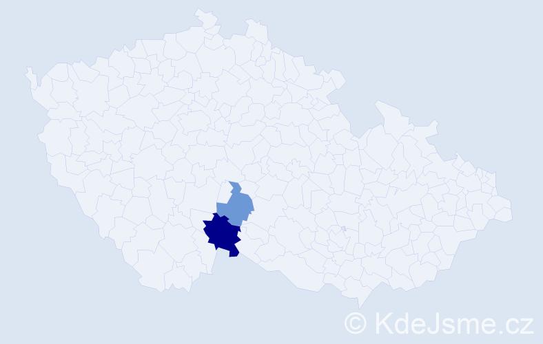Příjmení: 'Lejtnerová', počet výskytů 4 v celé ČR