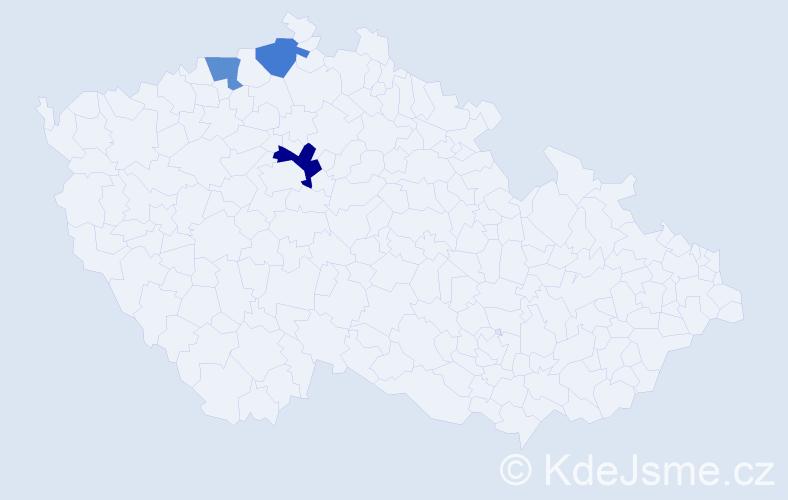Příjmení: 'Demus', počet výskytů 4 v celé ČR