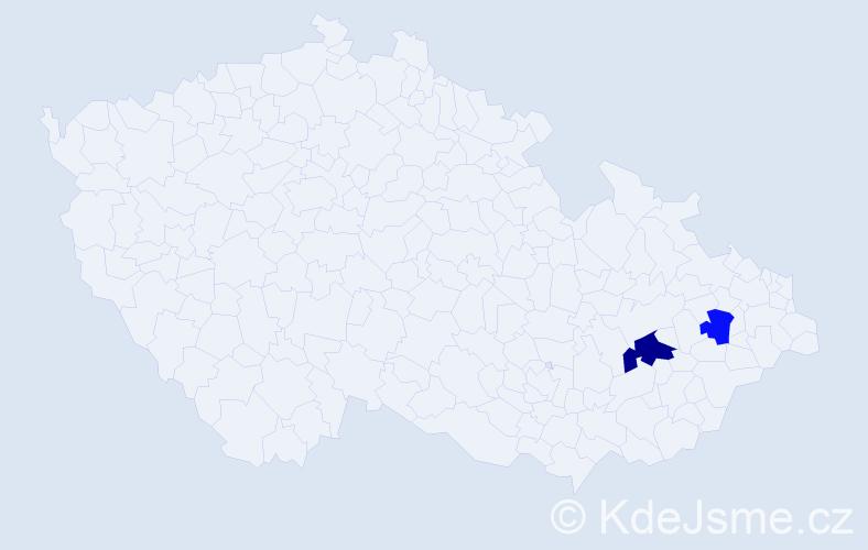 Příjmení: 'Ázsóth', počet výskytů 3 v celé ČR