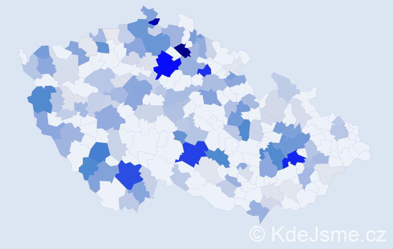 Příjmení: 'Koldová', počet výskytů 562 v celé ČR