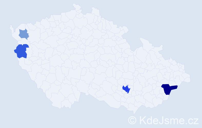 Příjmení: 'Kopůncová', počet výskytů 12 v celé ČR