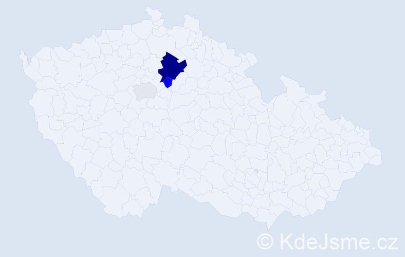 Příjmení: 'Číčo', počet výskytů 7 v celé ČR