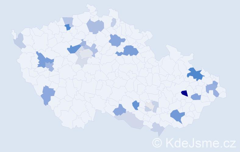 Příjmení: 'Grossman', počet výskytů 69 v celé ČR