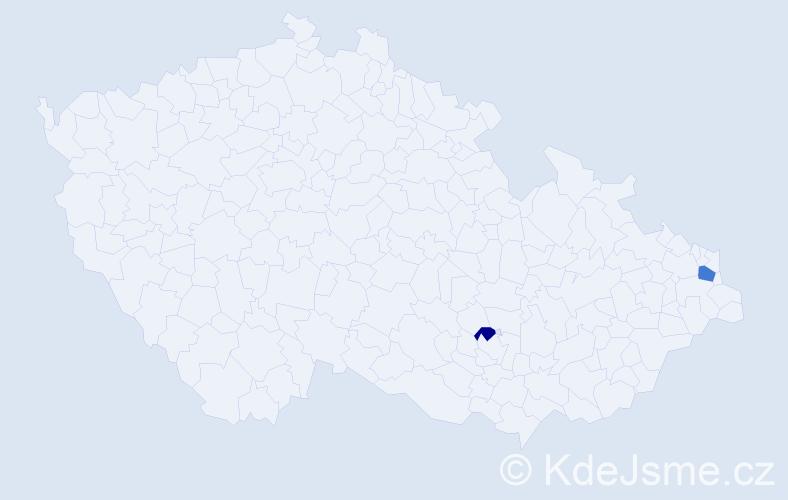 Příjmení: 'Krejczová', počet výskytů 3 v celé ČR