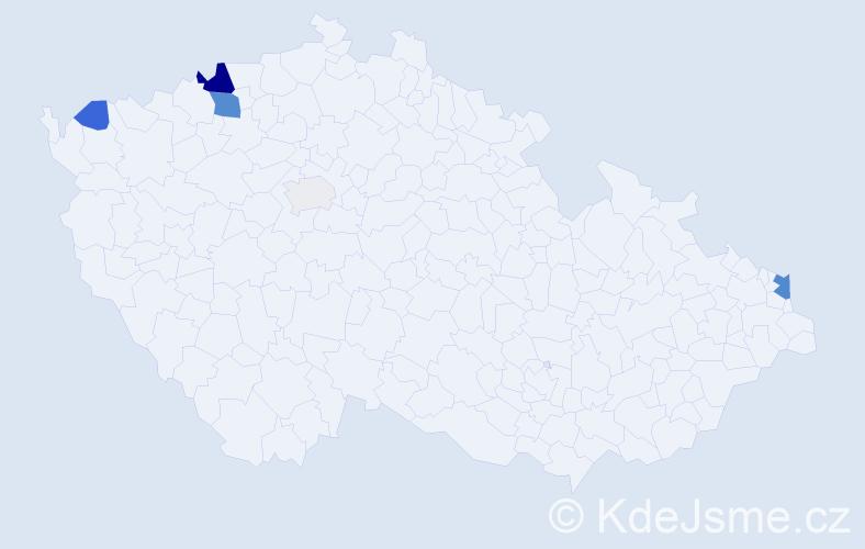 Příjmení: 'Ádámová', počet výskytů 15 v celé ČR