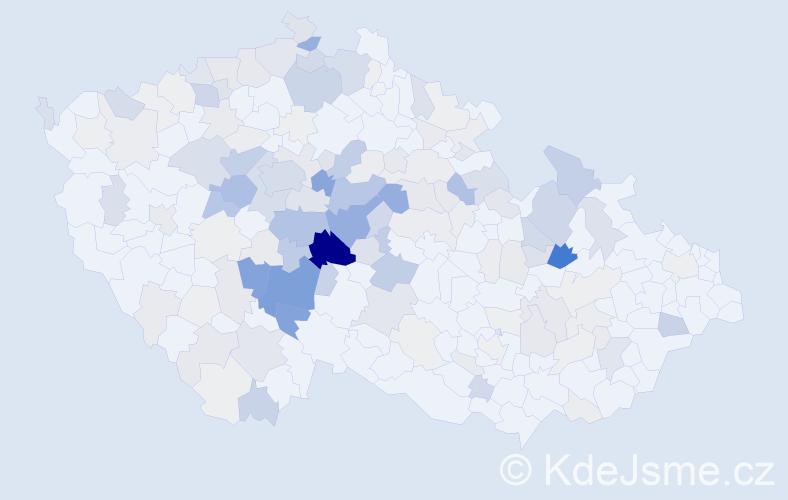 Příjmení: 'Hejný', počet výskytů 674 v celé ČR